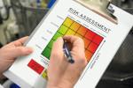 risk assessment chart showcasing a heat map